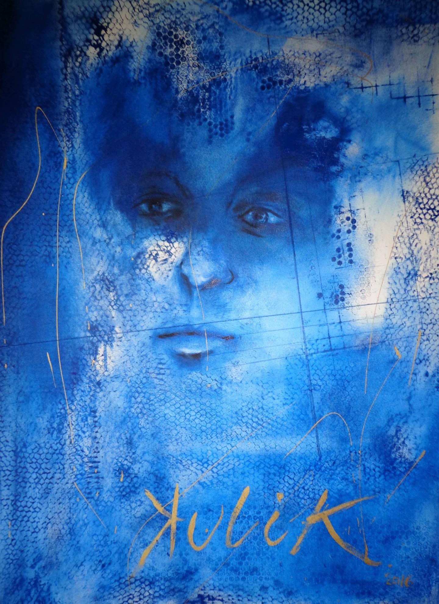 Georges KULIK - visage bleu