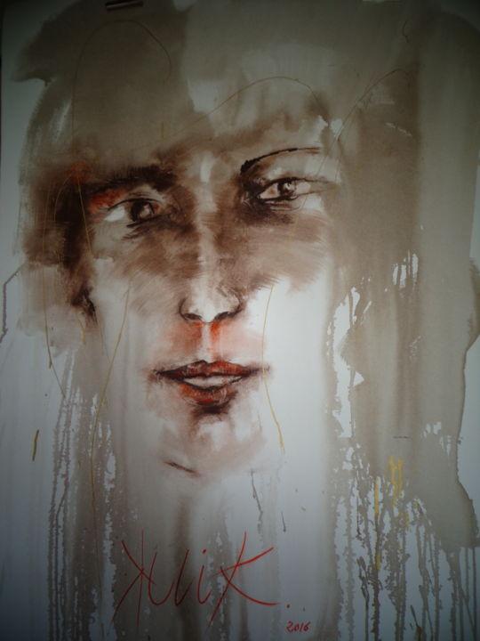 Georges KULIK - visage lavis